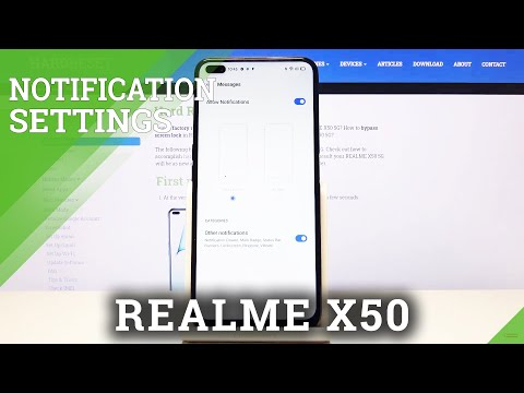 How to Manage Notifications for Messages in REALME X50 5G – Notifications Settings