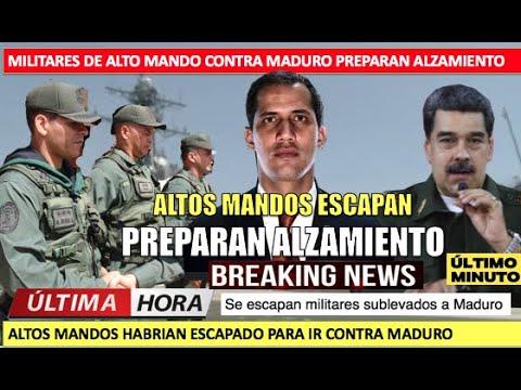 Escapan militares sublevados a Maduro se espera alzamiento