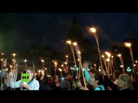 Marcha en Argentina contra el programa de austeridad de Macri