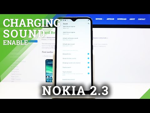 How to Check Charging Sound in NOKIA 2.3 – Turn Off / On Charging Sound