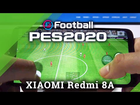 How Pro Evolution Soccer 2020 Works on Xiaomi Redmi 8A - PES Mobile Gameplay