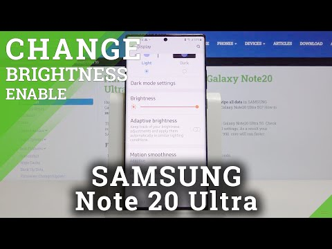 How to Set Auto Brightness in SAMSUNG Galaxy Note 20 Ultra – Select Adaptive Brightness