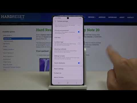 How to Reset Camera in SAMSUNG Galaxy Note 20 – Restore Camera Settings
