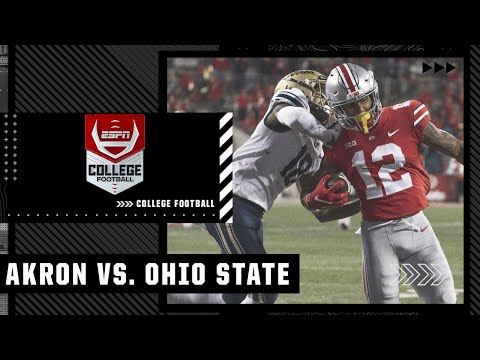 Akron Zips at Ohio State Buckeyes | Full Game Highlights
