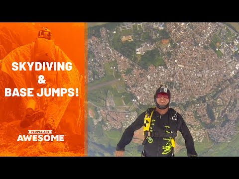 Extreme Skydiving & BASE Jumping | People Are Awesome
