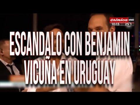 Escándalo con Benjamín Vicuña en Uruguay