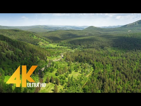Incredible Views of the Southern Urals from Above - 4K Aerial Footage - Short Version