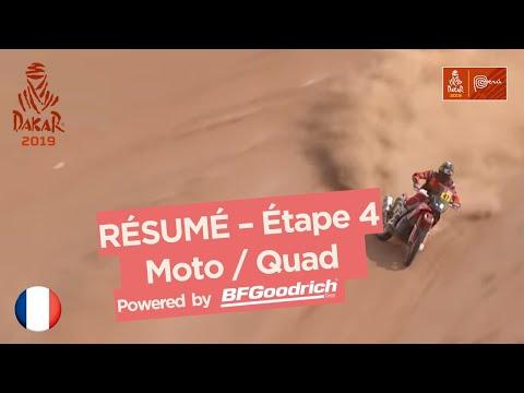 Résumé - Moto/Quad - Étape 4 (Arequipa / Moquegua) - Dakar 2019