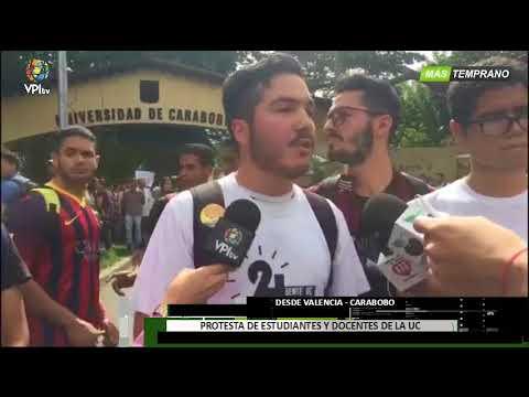 Venezuela - Estudiantes y Docentes de la UC protestan por inseguridad - VPItv