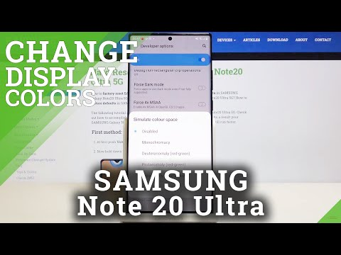 How to Simulate Color Space in SAMSUNG Galaxy Note 20 Ultra – Change System Colors