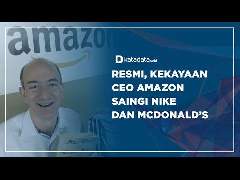 Resmi, Kekayaan CEO Amazon Saingi Nike dan MCdonald's | Katadata Indonesia