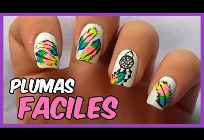 Youtube Diseños De Uñas Con Pluma Y Atrapasueños Masgleecom