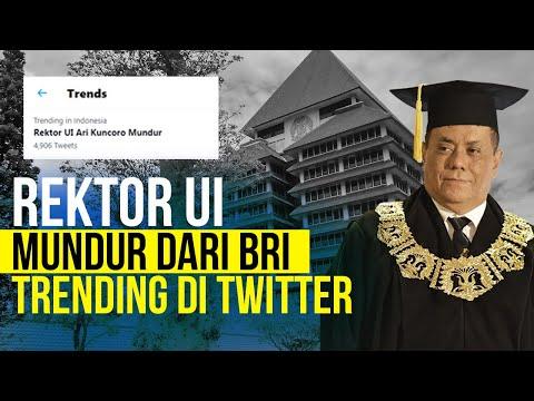 Rektor UI Mundur dari BRI Trending di Twitter