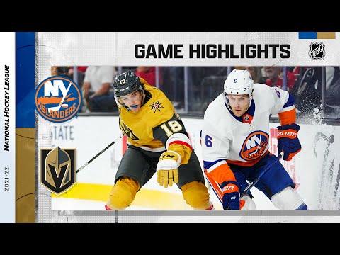 Islanders @ Golden Knights 10/24/2021 | NHL Highlights