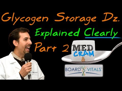 Glycogen Storage Diseases (Part 2) Explained Clearly by MedCram.com - A BoardVitals Question
