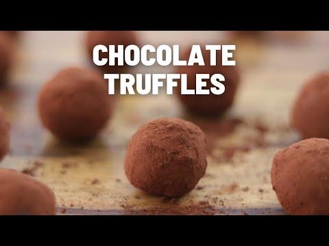 Easy Chocolate Truffles Recipe #Shorts