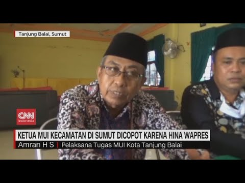 Hina Wapres, Ketua MUI di Sumut Dicopot