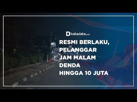 Resmi Berlaku, Pelanggar Jam Malam Denda hingga 10 juta   Katadata Indonesia