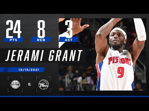 Jerami Grant goes for 24 PTS, 8 REB vs. 76ers