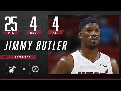 Jimmy Butler with 25 PTS, 4 REB & 4 AST against Celtics
