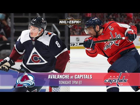 Avalanche vs. Capitals on ESPN+ | Tonight at 7pm ET