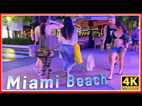 【4K】WALK LINCOLN Rd MIAMI BEACH 4K video SLOW TV Travel vlog