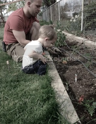Gardening with Dad | Using garden ingredients to make a new recipe! Check it out at the Salt Water Blog - www.SaltWaterNC.com