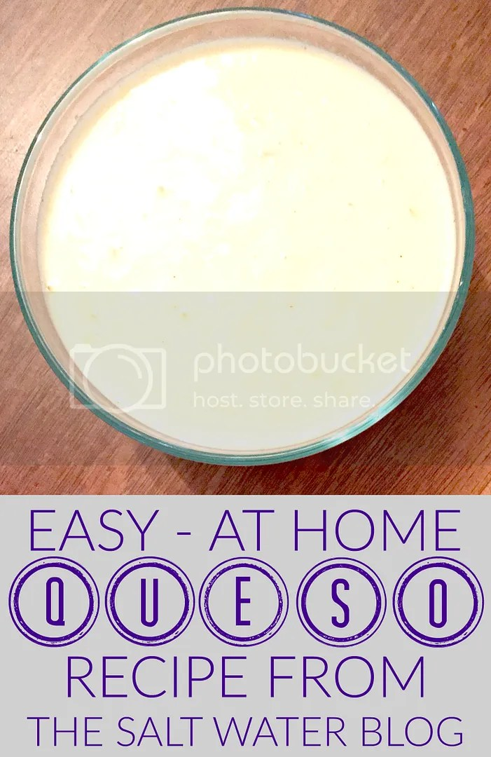 Easy At Home DIY Queso Dip Recipe - The Salt Water Blog