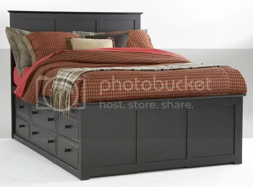 plans to build a queen size captains bed