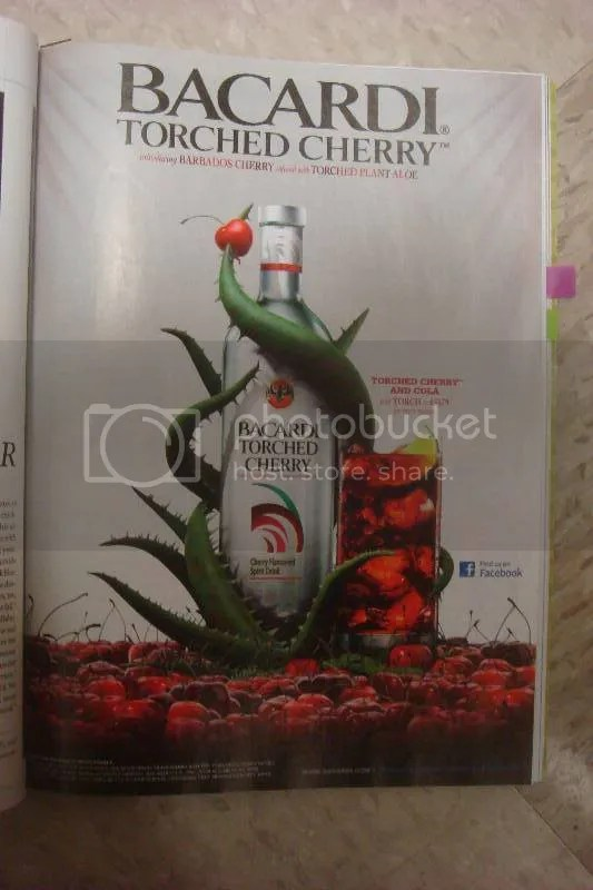 "Bacardi ""Torched Cherry"" Ad"