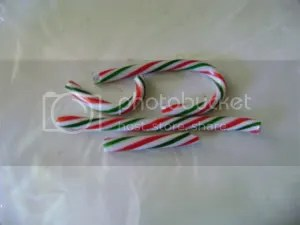 Candy canes ready to be destroyed