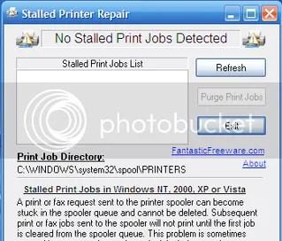 Stalled Printer Repair cancelará los archivos en cola.