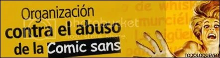 Organización contra el abuso de la Comic Sans de Microsoft