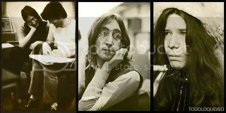 John y Paul, John, Janis. Fotos memorables.