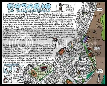 Dibujo de Rosario por MIguel Rep. Con texto del mismo autor.
