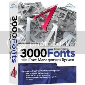 3000 Fuentes TrueType
