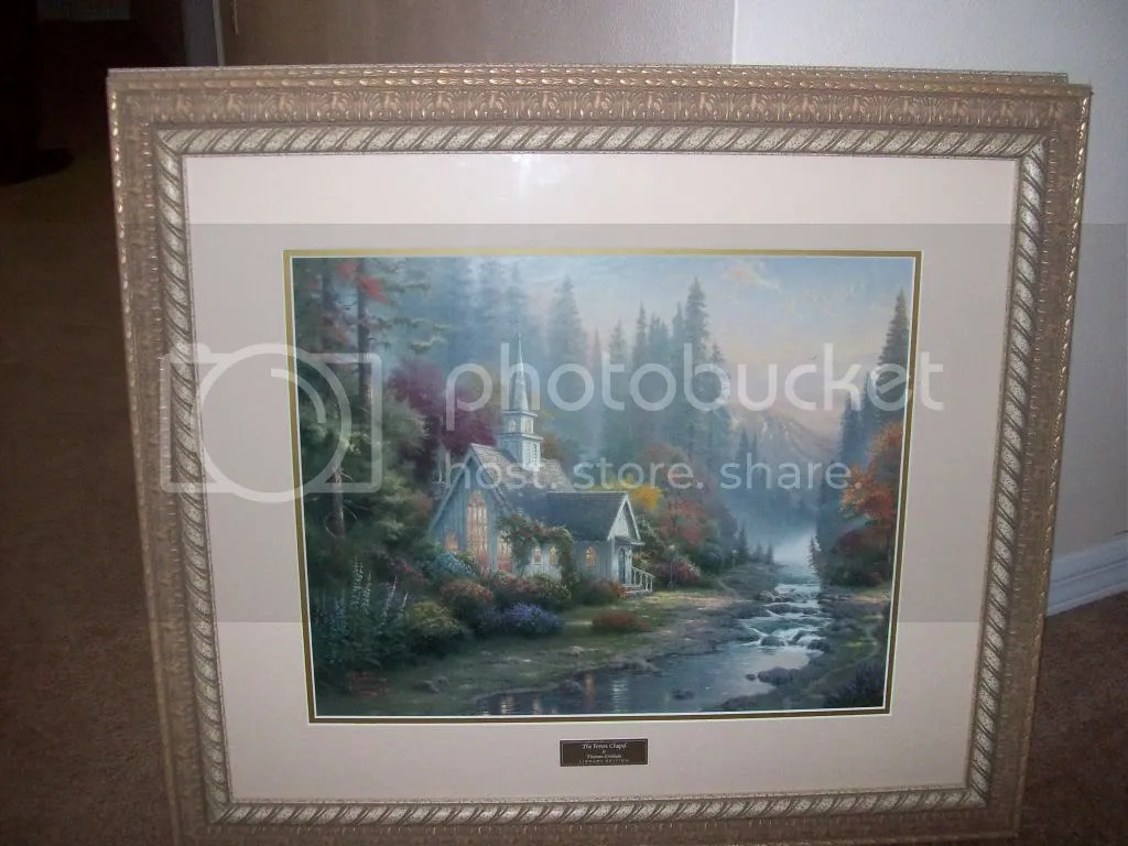 Thomas Kinkade Print The Forest Chapel 100 Photo By