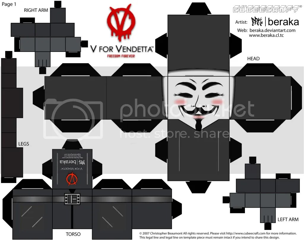 /V for Vendetta Cubeecraft