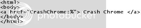 Chrome Crash Code