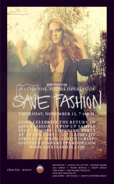 save fashion,inven.tory,inventory,save fashion new york,nyc,refinery 29,soho,new york city,sample sale,vena cava,The Greyest Ghost