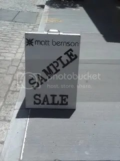 matt bernson,the greyest ghost,sample sales