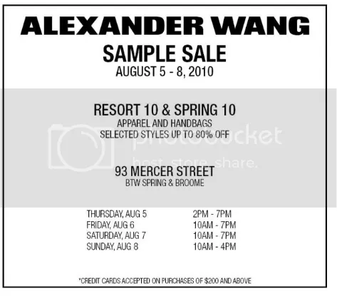 Alexander Wang,Sample Sale,The Greyest Ghost