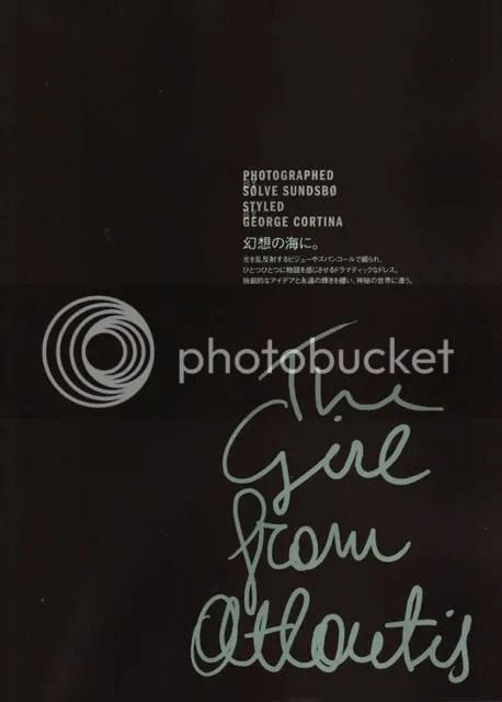 VOGUE Nippon,Alexander McQueen,Miu Miu,The Greyest Ghost,Sølve Sundsbø,Alla Kostromicheva