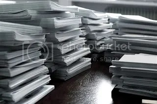 stacks of manuscripts