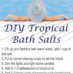 DIY Tropical Bath Salts