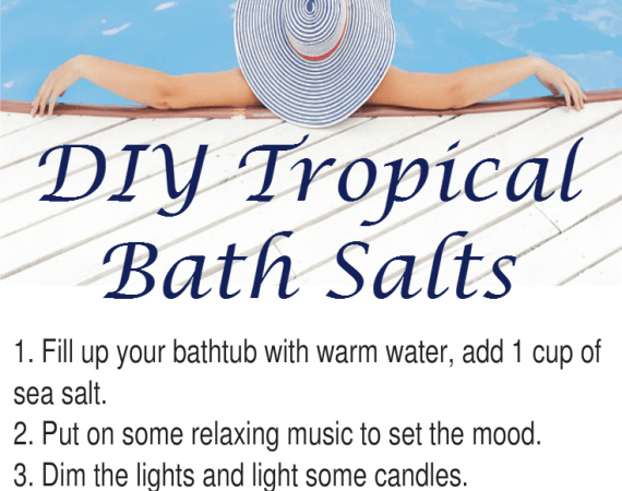 DIY Tropical Bath Salts