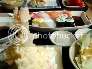 sushi & tempura set RM22