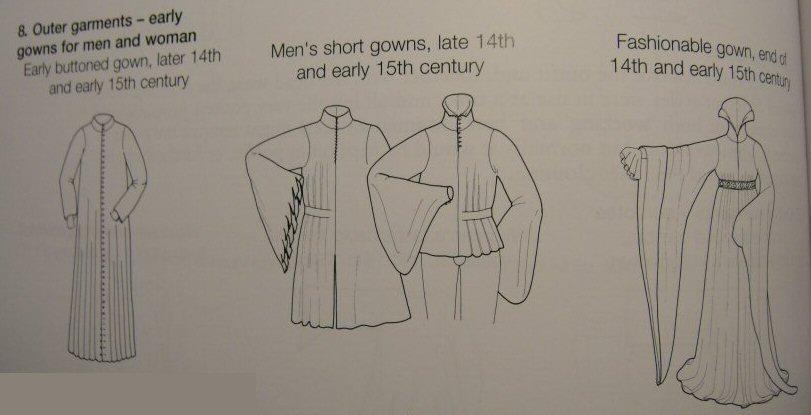 houppelande XV 15 e th robe médiévale medieval dress gown femme homme men women