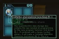 Open those little brown boxes, and you just might find this... Instruction Disk for Grid Armor Mk I