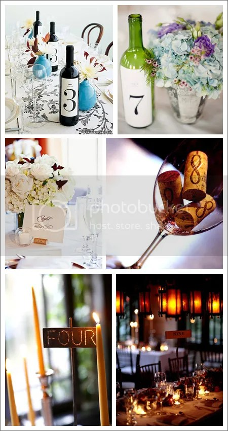 Numerar mesas [Vía, The Bride's Cafe, Martha Stewart y Mel Barlow Photography]